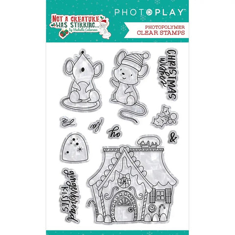 PhotoPlay Not A Creature Was Stirring Stamps/Dies Bundle