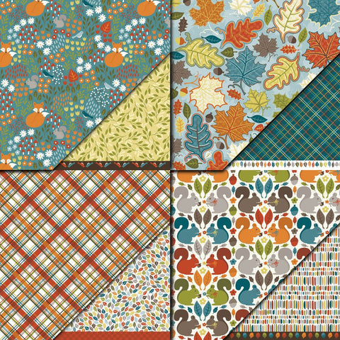 "Dare 2B Artzy 12"" x 12"" Fall Harvest Collection Variety Pack Pattern Paper"