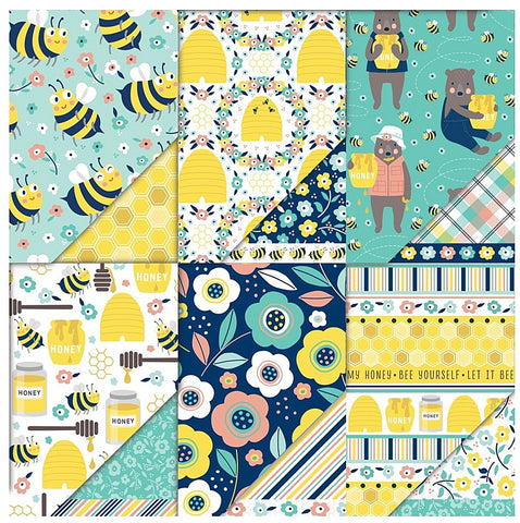 "Dare 2B Artzy 12"" x 12"" All The Buzz Collection Variety Pack Pattern Paper"