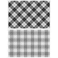 Tim Holtz/Stampers Anonymous Perfect Plaid Background Stamps