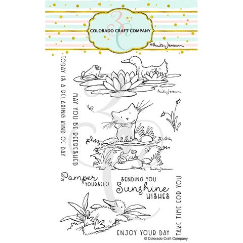 Colorado Craft Company Pond Pampering Stamp/Die Bundle