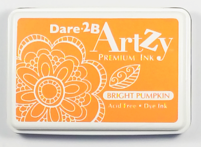Dare 2B Artzy Premium Ink Pad - Bright Pumpkin