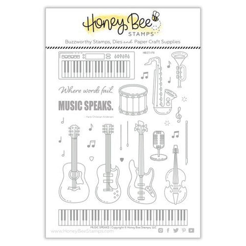 Honey Bee Music Speaks Stamp & Die Bundle
