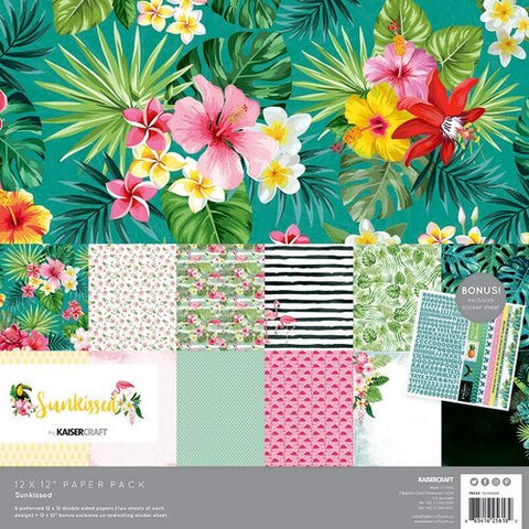 Kaisercraft Sunkissed Collection (with Bonus Sticker Sheet) Paper Pack