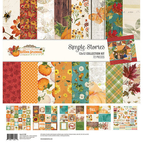 Simple Stories Autumn Splendor Collection Paper Pack