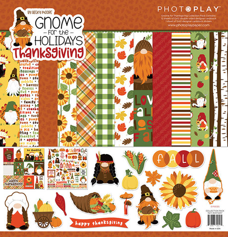 PhotoPlay Gnome for the Holidays:  Thanksgiving Paper Pack