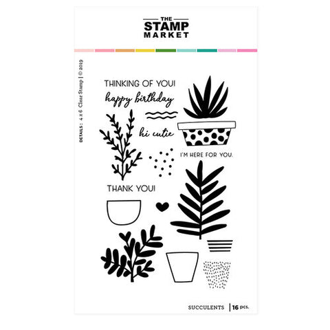 The Stamping Market Succulents Stamps & Die Bundle