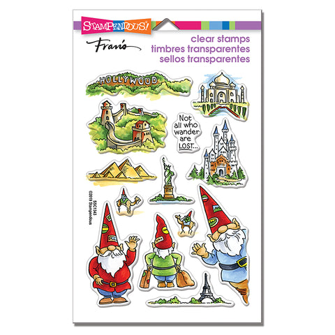 Stampendous Gnome Travels Stamp