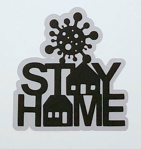 Covid-19 Diecut Collection - Stay Home (Navy)