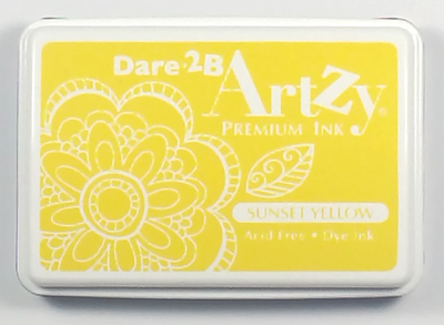 Dare 2B Artzy Premium Ink Pad - Sunset Yellow