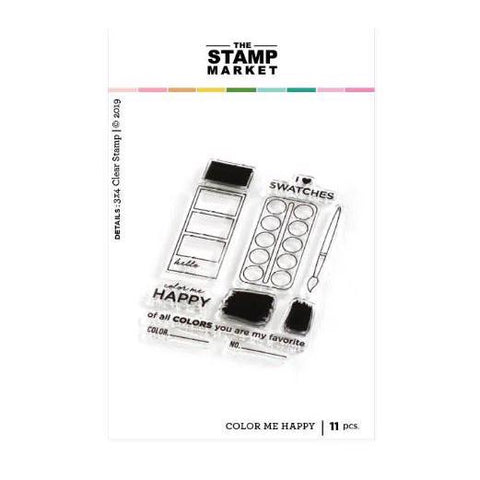 The Stamping Market Color Me Happy Stamp & Die Bundle