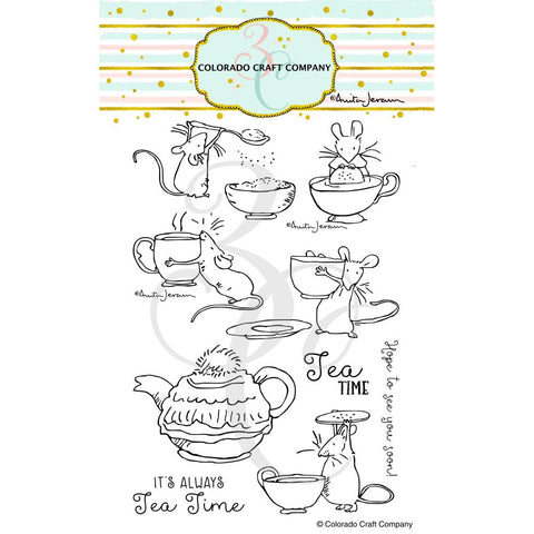 Colorado Craft Company Tea Time Fun Stamp/Die Bundle
