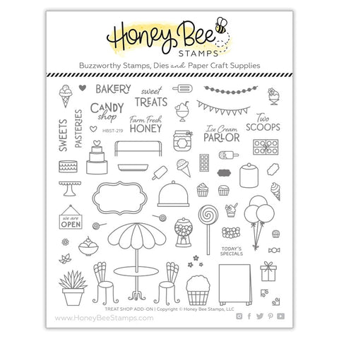 Honey Bee Treat Shop Add-On Stamp & Die Bundle