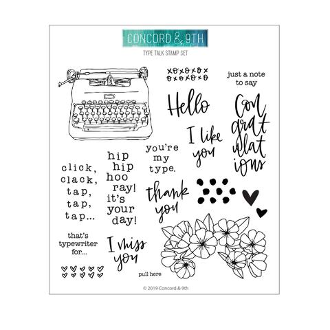 Concord & 9th Type Talk Stamp & Die Bundle