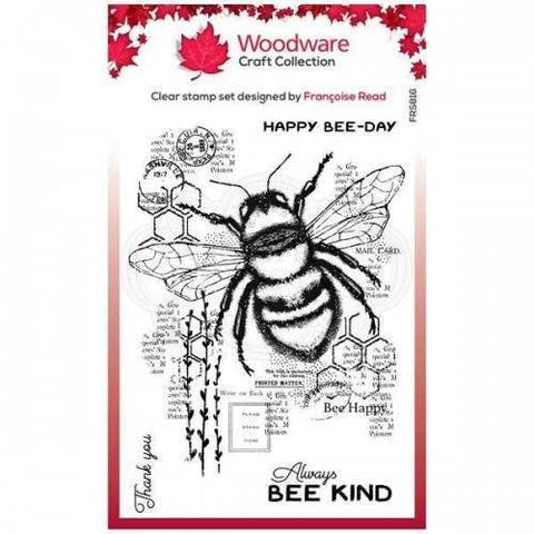 Woodware Bee Kind Stamp