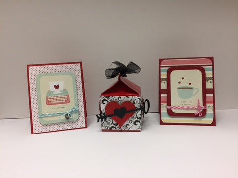 Adult Class: 2 - Feb. 7 or Feb. 8 or Feb. 11 - Twist and Pop Cards and Valentine Treat Box