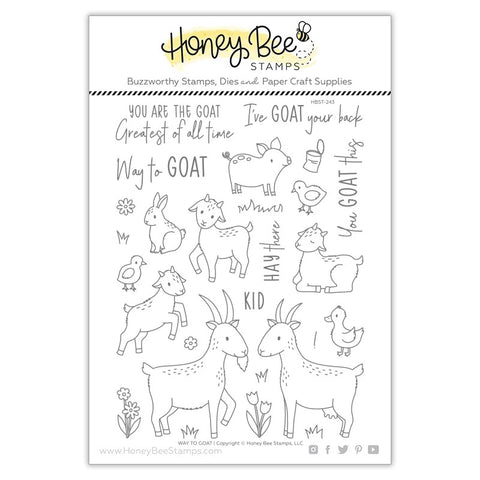 Honey Bee Way To Goat Stamp and Die Bundle