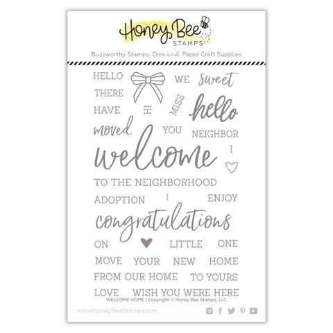 Honey Bee Welcome Home Stamp & Threshold Die Bundle