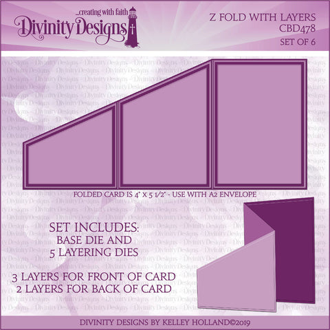Divinity Designs Z Fold with Layers Die
