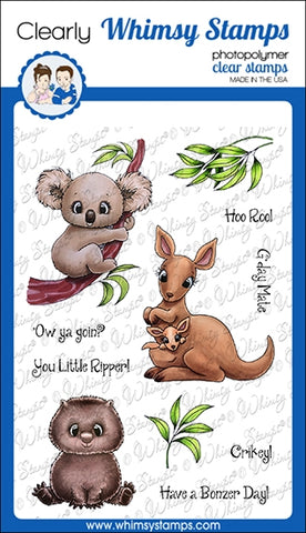 Whimsy Stamps Aussie Friends Clear Stamps