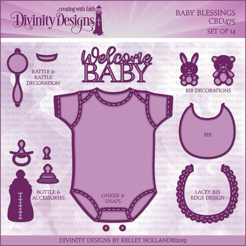 Divinity Designs Baby Blessings Dies