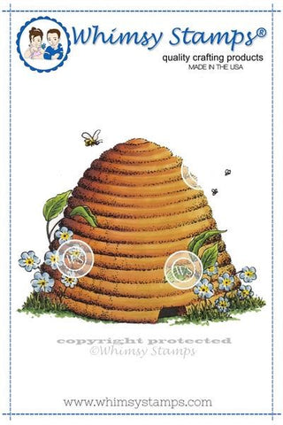 Whimsy Stamps Bee Hive Rubber Cling Stamp