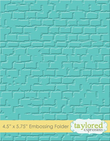 Taylored Expressions Brick Embossing Folder