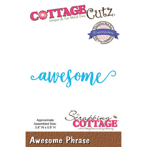Cottage Cutz Awesome and Fabulous Word Dies