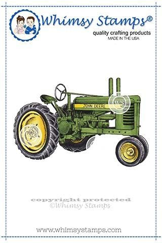 Whimsy Stamps Farm Tractor Rubber Cling Stamp