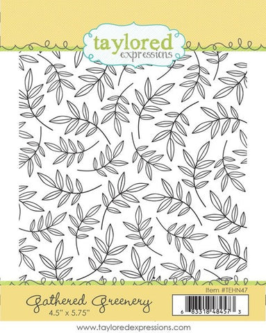 Taylored Expressions Gathered Greenery Background Stamp
