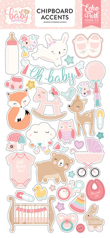 Echo Park Chipboard Accents - Baby Girl