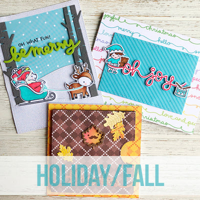 Adult Class: 9.1 - Oct. 16 2:00-5:00  Lawn Fawn - Fall & Holiday Cards