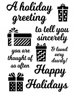 Inky Antics Holiday Greeting Stamp