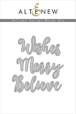 Altenew Holiday Scripty Words
