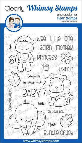 Whimsy Stamps Jungle Babies Clear Stamps