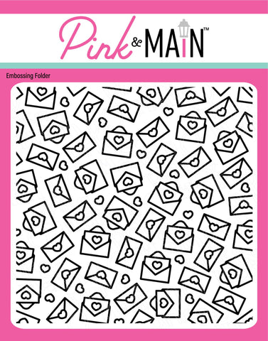 Pink & Main Happy Mail Embossing Folder