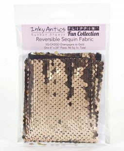 Inky Antics Reversible Sequin Fabric - Champagne to Gold