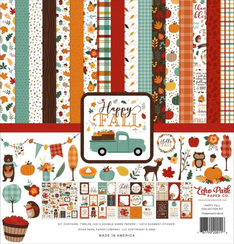 Echo Park Happy Fall Collection 12x12 Paper Pack