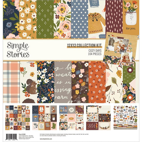 Simple Stories Cozy Days Collection 12x12 Paper Pack