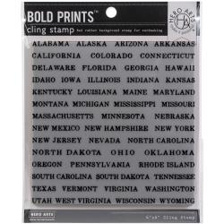 Hero Arts State-Cation Bold Prints Background Cling