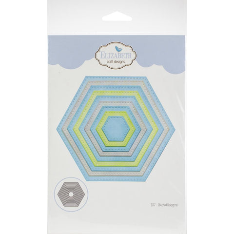 Elizabeth Craft Stitched Hexagon Dies