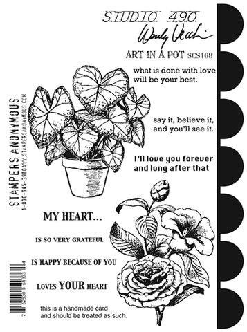 Wendy Vecchi Art in a Pot Stamps & Stencil