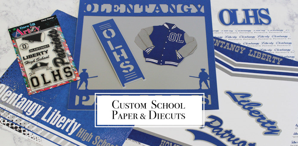 Legacy Paper Arts Custom School Diecuts and Paper