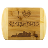Engraved Housewarming Gift I Love Sacramento California Organic Bamboo Cutting Board Gift