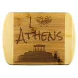 I Love Athens Bamboo Wood Cutting Board