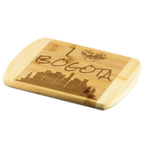 Engraved Housewarming Gift I Love Bogota Colombia Bamboo Wood Cutting Board Gift
