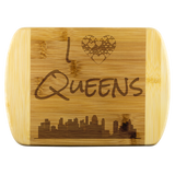 I Love Queens Bamboo Wood Cutting Board