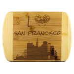 Engraved Housewarming Gift I Love San Francisco California CA Organic Bamboo Wood Cutting Board Gift