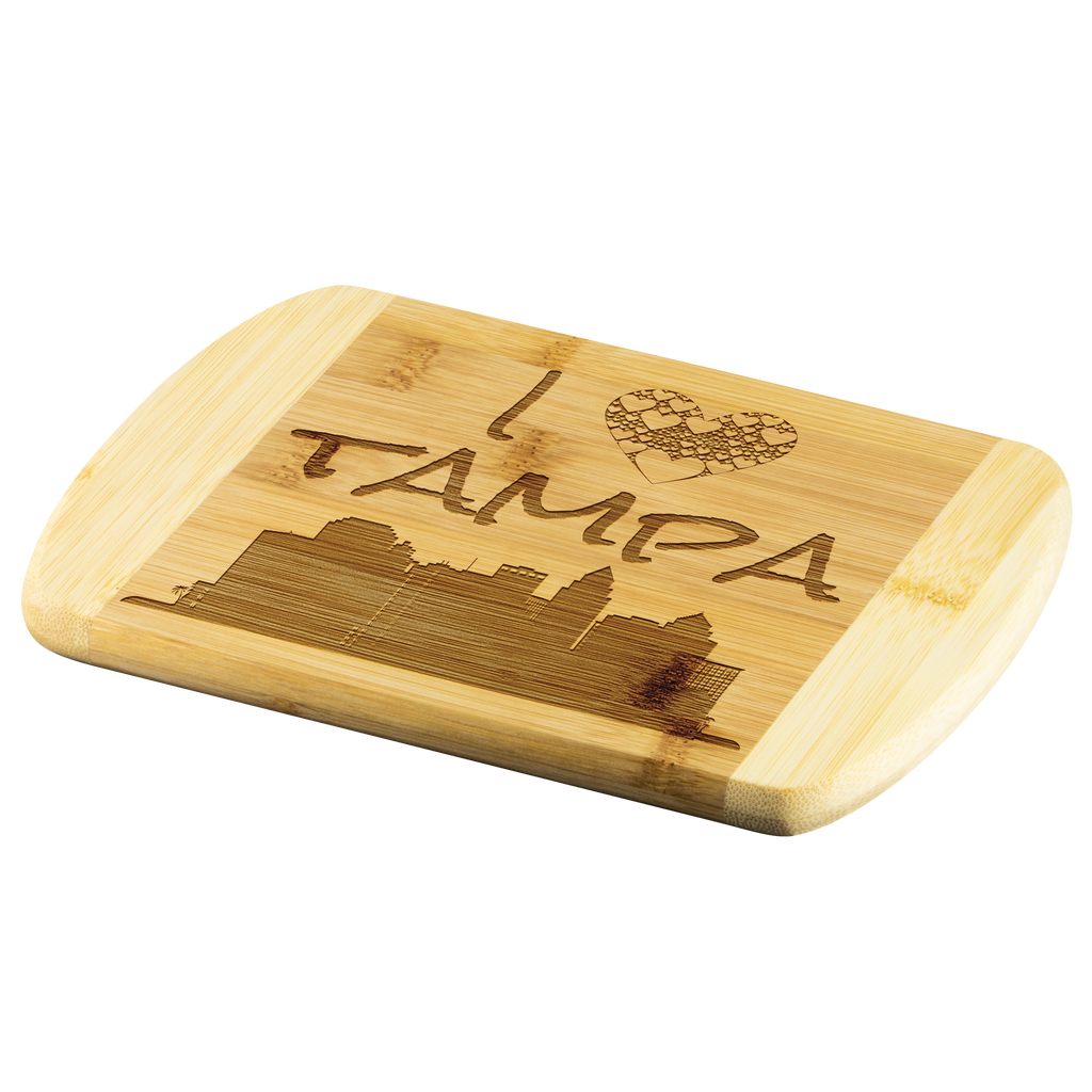 Engraved Housewarming Gift I Love Tampa Florida Bamboo Wood Cutting Board