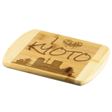 Engraved Housewarming Gift I Love Kyoto Japan Organic Bamboo Wood Cutting Board Gift
